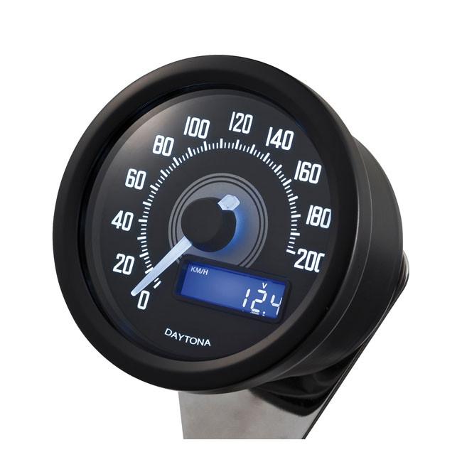 Daytona Velona digitaler Tacho bis 200 km/h schwarz