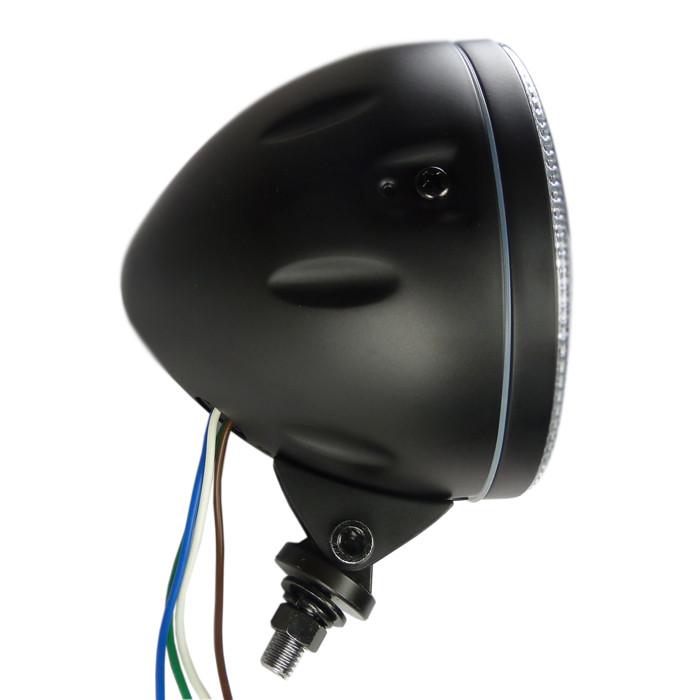 Schwarzer Hauptscheinwerfer mit LED Standlichtring