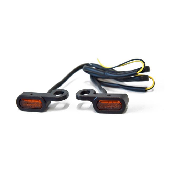 Schwarze Mini LED Blinker für HD Touring FLSS V ROD