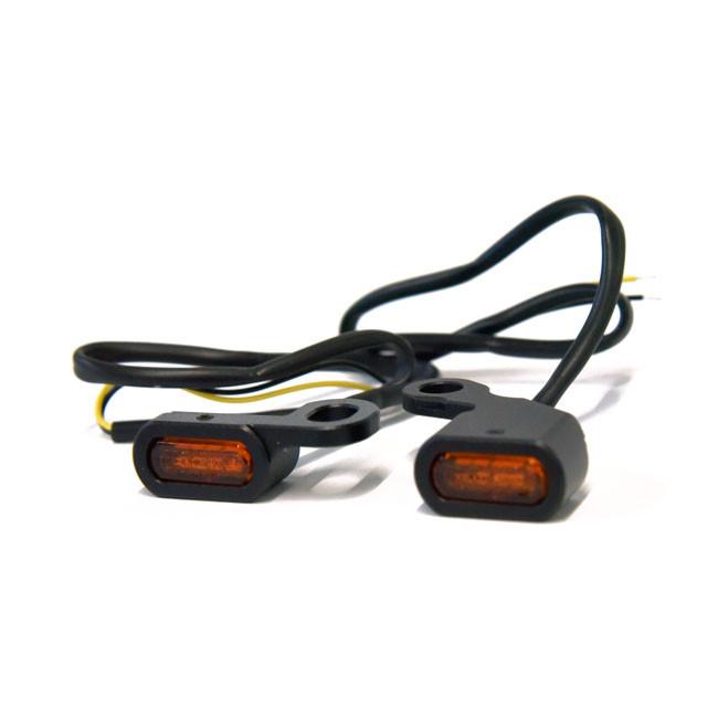 Schwarze Mini LED Blinker für HD Dyna Softail XL