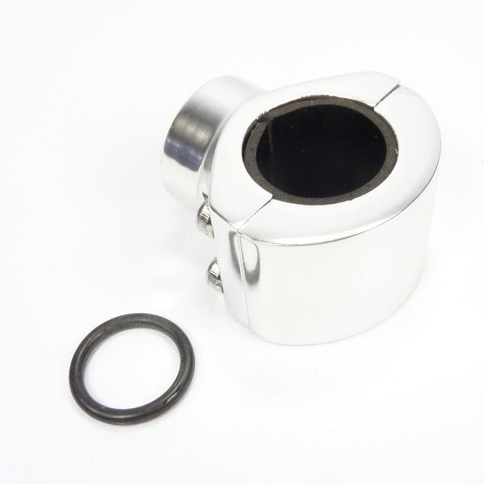 Verchromte Aluminium Lenkerklemme für Tachometer
