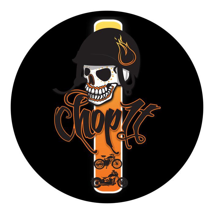 2x Aufkleber Chop it Logo schwarz