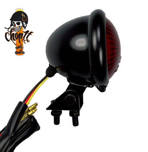 LED Rücklicht im Bates Style schwarz/rot