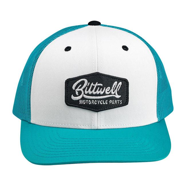 Unisize Biltwell Vintage Style Cap weiß türkis