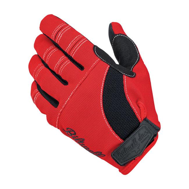 Biltwell Motorrad Handschuhe rot