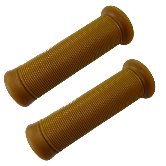 Biltwell Kung Fu Griffe für 22 mm Lenker Sandbraun