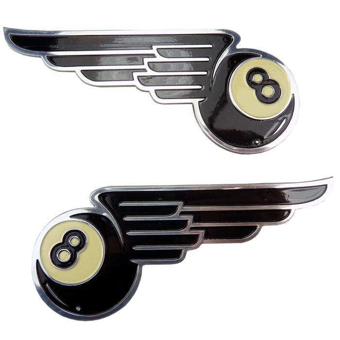 Emblem black eight mit Flügel