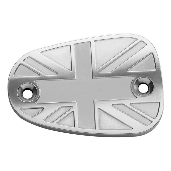 Bremszylinderdeckel - Union Jack - poliert - für Triumph Bonneville