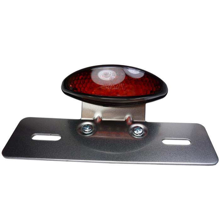 LED Rücklicht schwarz mit Kennzeichenhalter