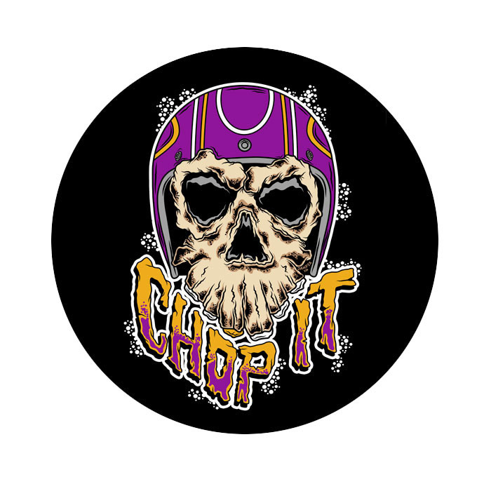 2x Aufkleber Chop it Monster Skull