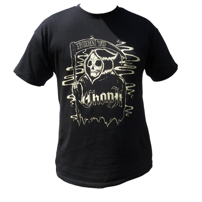 Black T-Shirt with Grim Reaper Logo