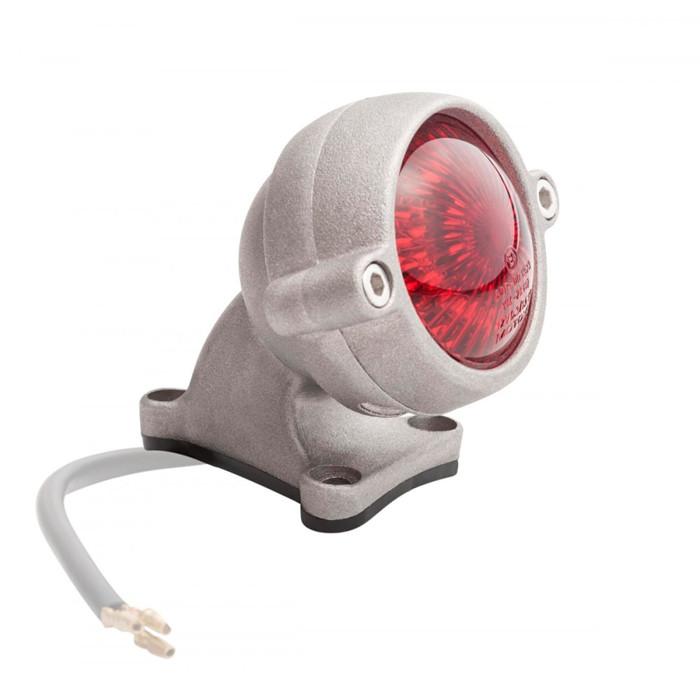 LED Aluminium Motorrad Rücklicht Round Style mit Halter