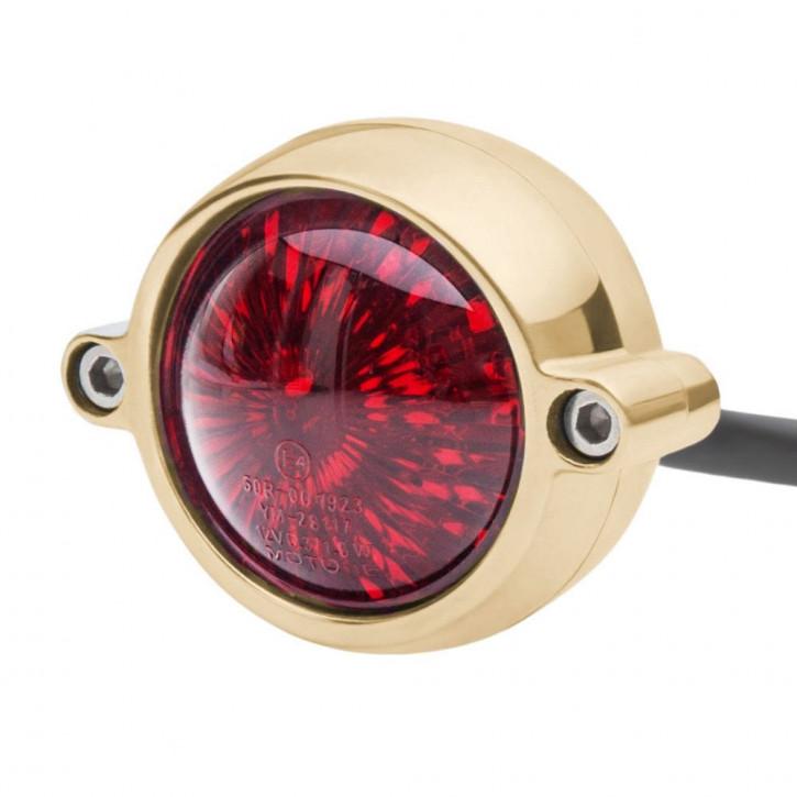 LED Messing Motorrad Rücklicht Round Style