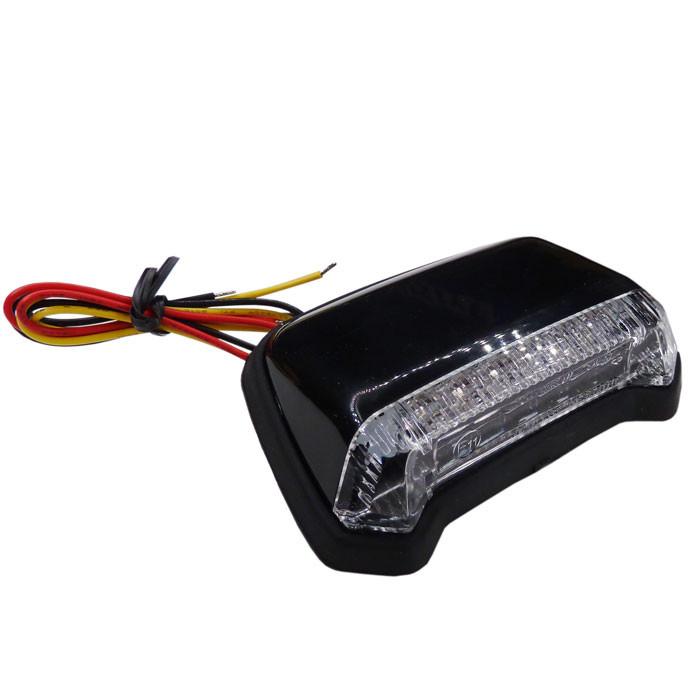 Flaches LED Fender Rücklicht schwarz klar