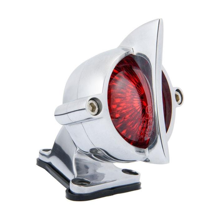 LED Aluminium poliert Motorrad Rücklicht Fishtail Style mit Halter