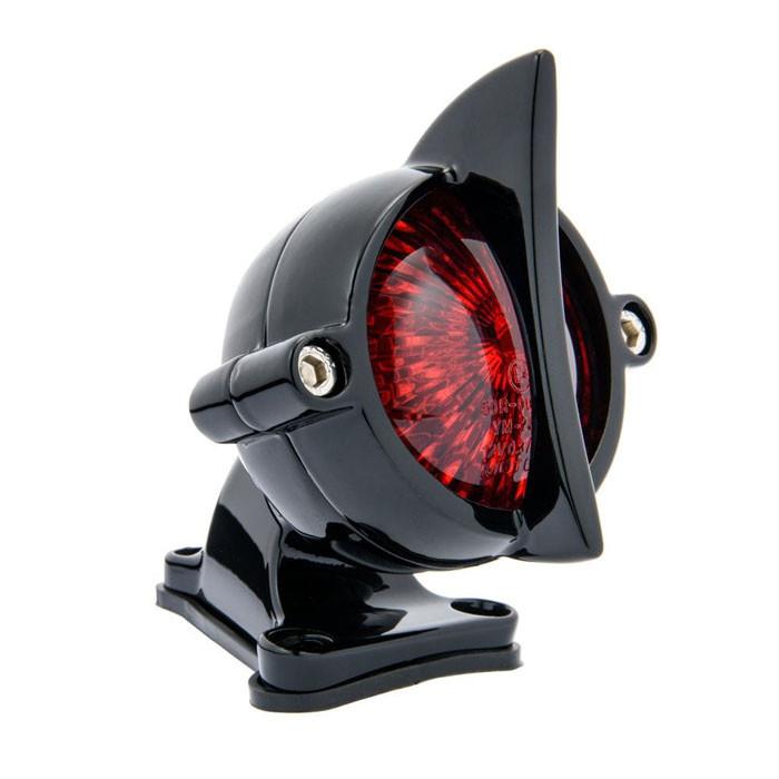 LED Aluminium Motorrad Rücklicht Fishtail Style mit Halter