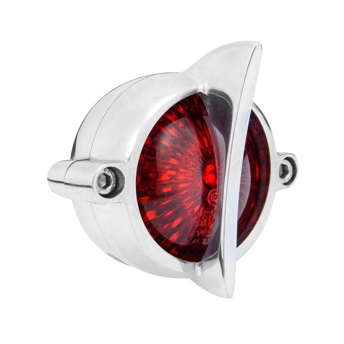 LED Aluminium poliert Motorrad Rücklicht Fishtail Style