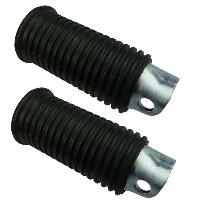 Zwei Fußrasten schwarz gerippt 45 mm für HD