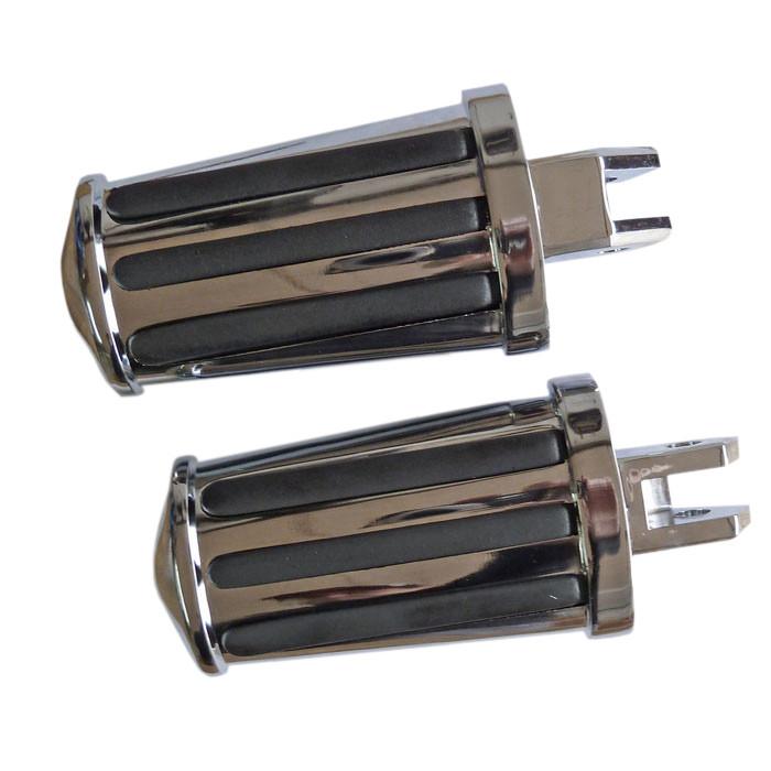 Zwei Fußrasten chrom für Virago XV535