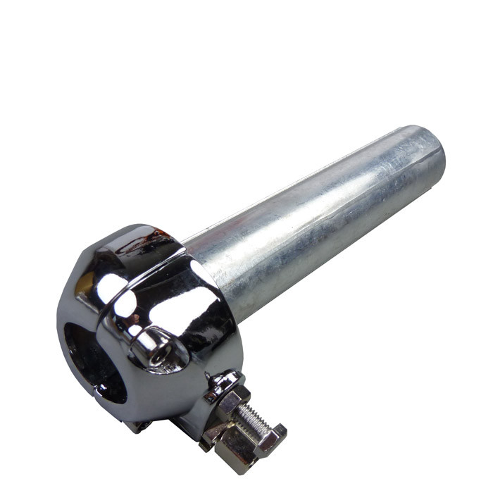 Chrom Gasgriff Klemme mit Metall Drehhülse 22 mm