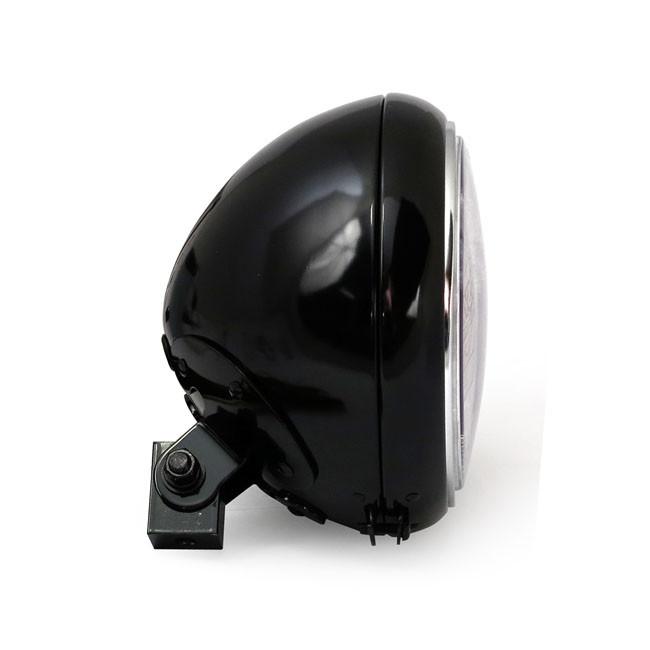 """Motorrad Scheinwerfer 7"""" schwarz glänzend"""