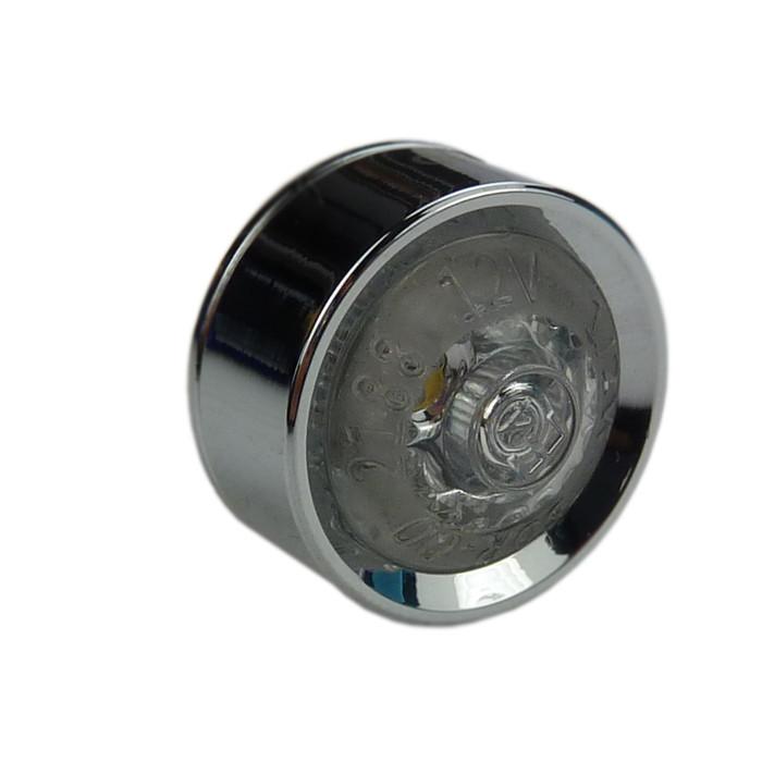 Mini Highsider LED Rücklicht + Gehäuse chrom