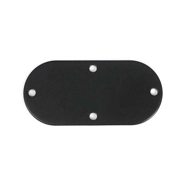 Inspektionscover schwarz glatt für 5-Gang HD Modelle