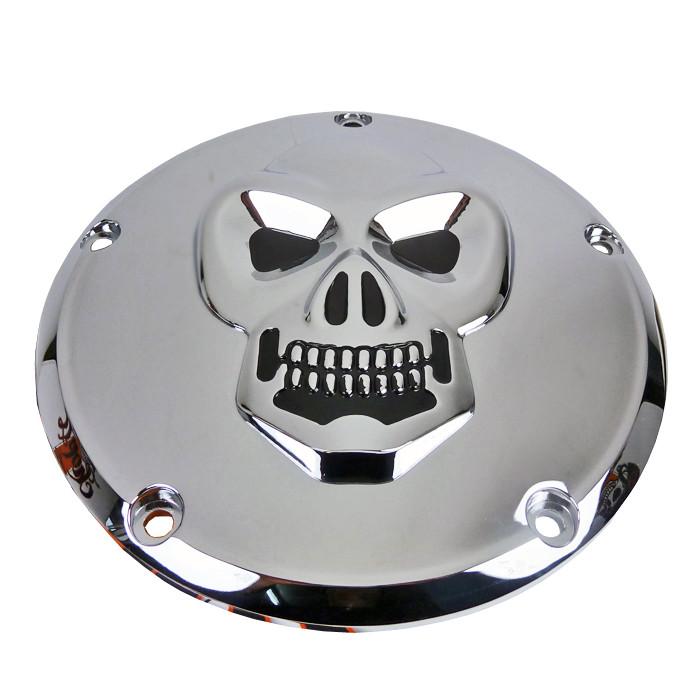 Kupplungsdeckel Skull für Harley Davidson Twin Cam