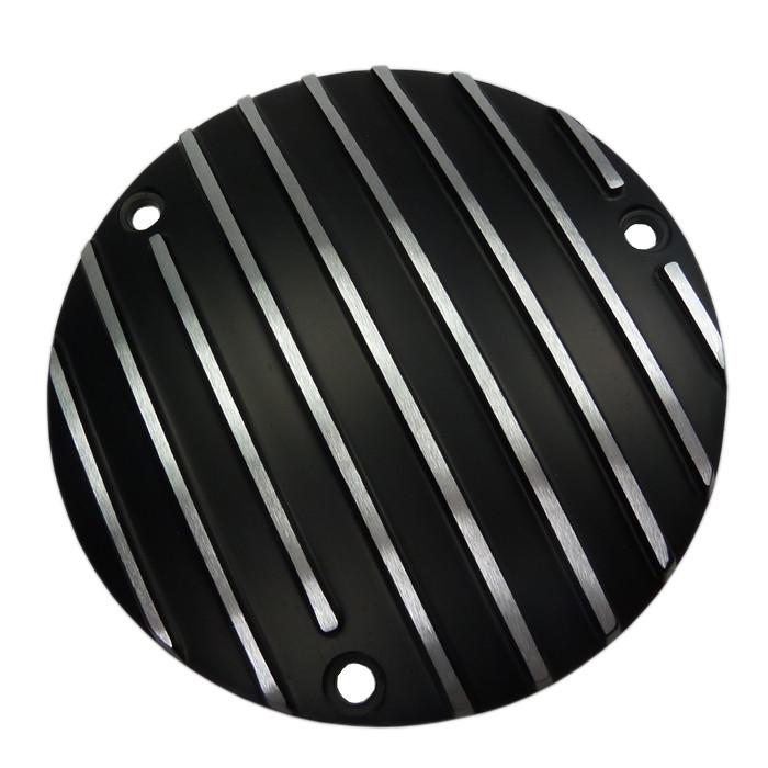 Kupplungsdeckel schwarz gerippt für Harley Davidson Big Twin