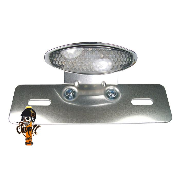 LED Rücklicht mit Kennzeichenhalter, weiß