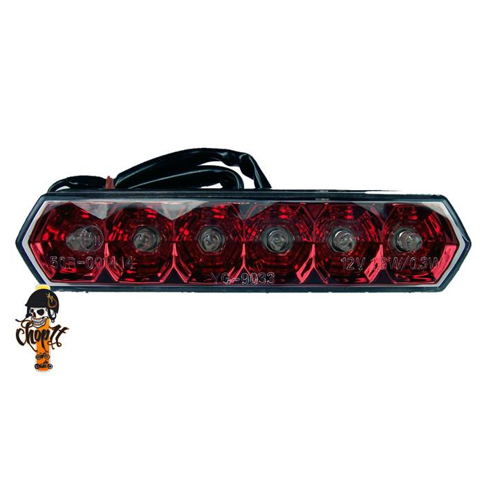 LED Rücklicht rot mit Nummernschildbeleuchtung