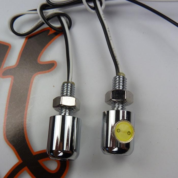 LED Kennzeichenbeleuchtung Minischraube chrom