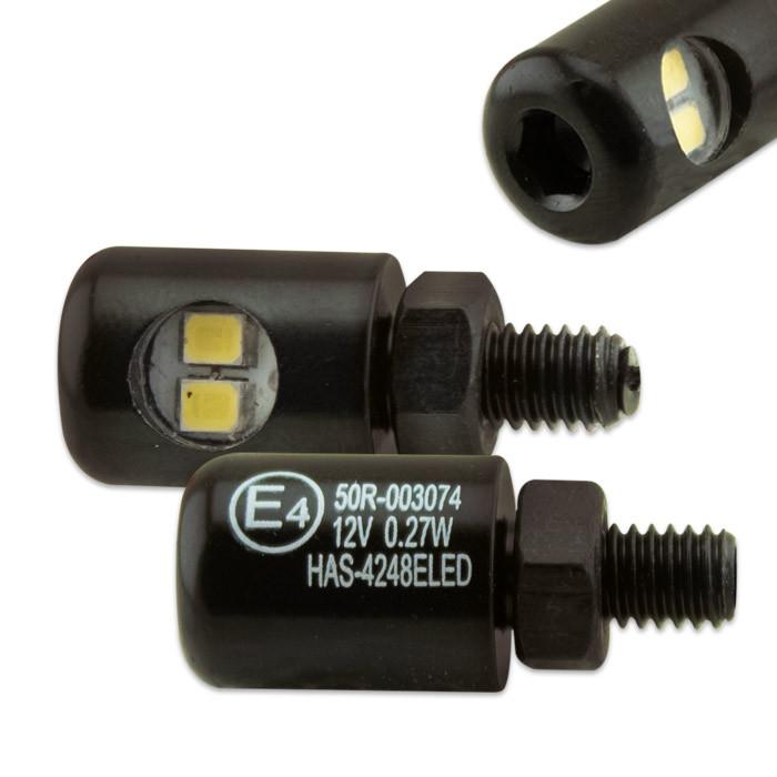 LED Kennzeichenbeleuchtung Minischraube schwarz