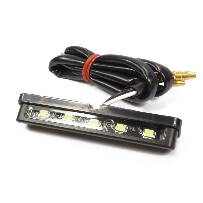 LED Kennzeichenleuchte schwarz mit Klebestreifen