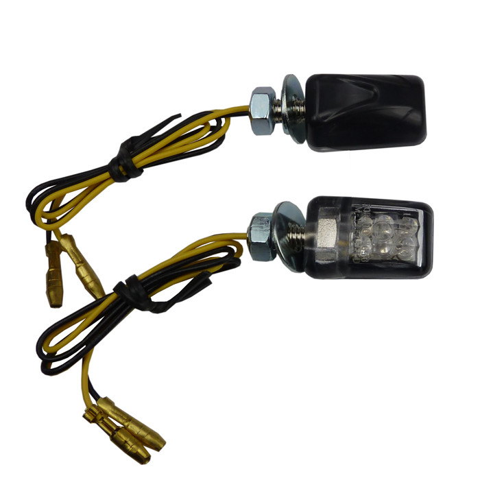 27 mm LED Mini Blinker Picco schwarz