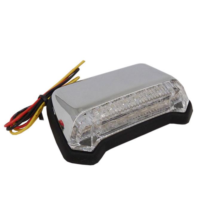 Flaches LED Fender Rücklicht chrom klar