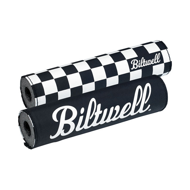 Biltwell Lenkerpolster Raceflag schwarz