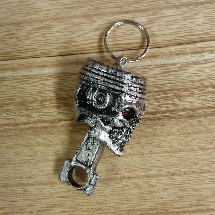 Schlüsselanhänger Kolben Totenkopf