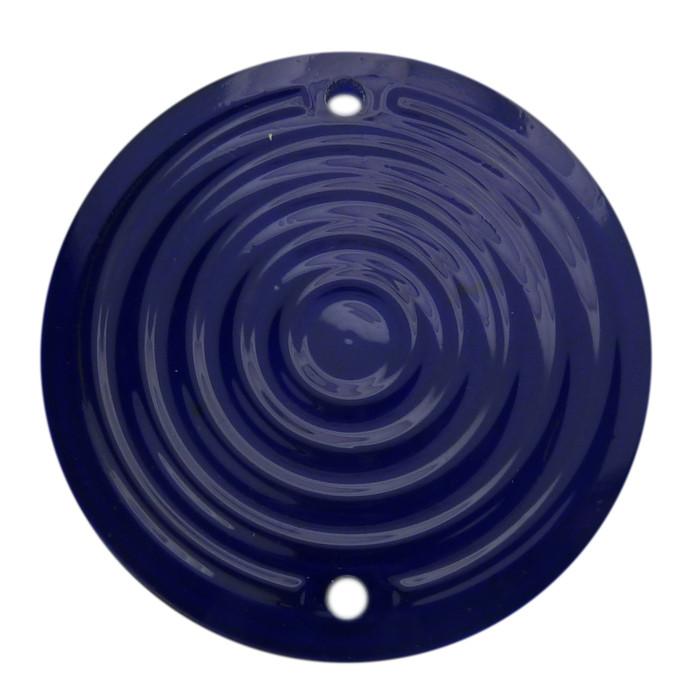 Zündungsdeckel Acryl blau rings