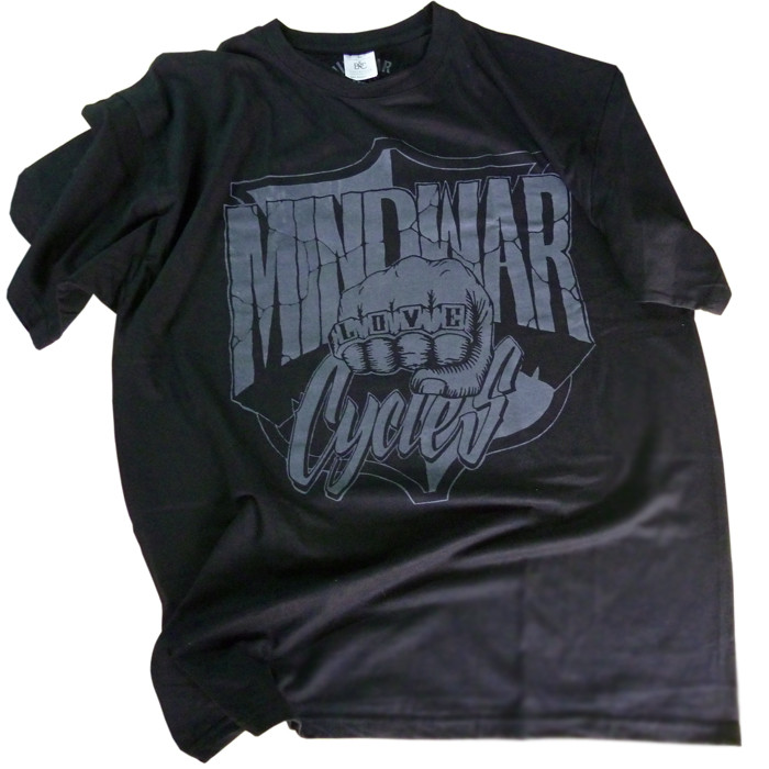 Black T-Shirt with Mindwar Cycles Logo
