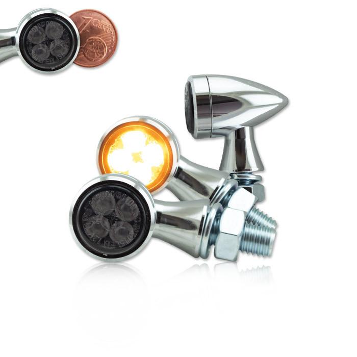 Micro Bullet Style LED Blinker chrom