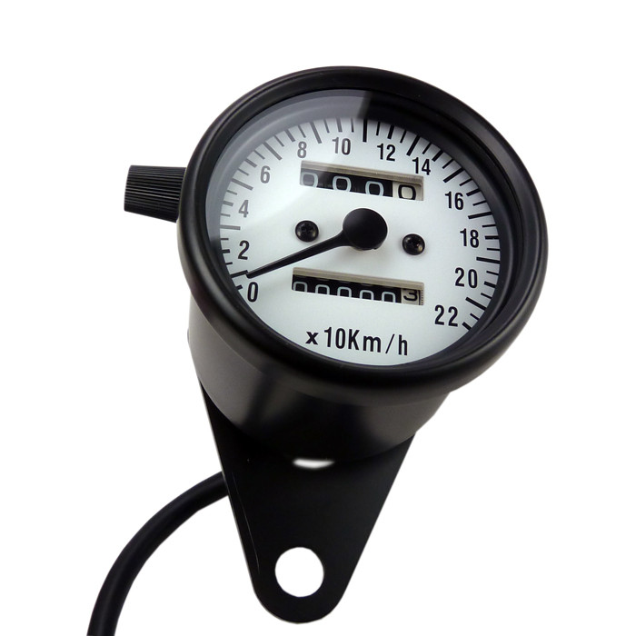 Mini Tachometer Schwarz ZFB weiss mit Tages KMZ