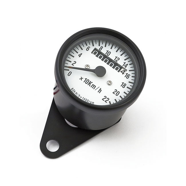Mini Tachometer Schwarz ZFB weiss