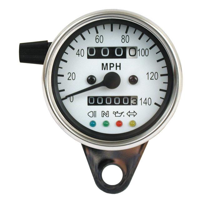 Mini MPH Tachometer mit Kontrollleuchten