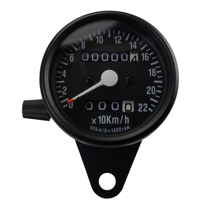 Mini Tachometer Schwarz mit Tages KMZ