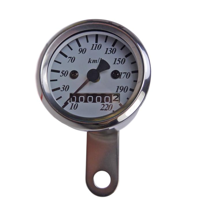 Mini Tachometer 48 mm weißes Ziffernblatt