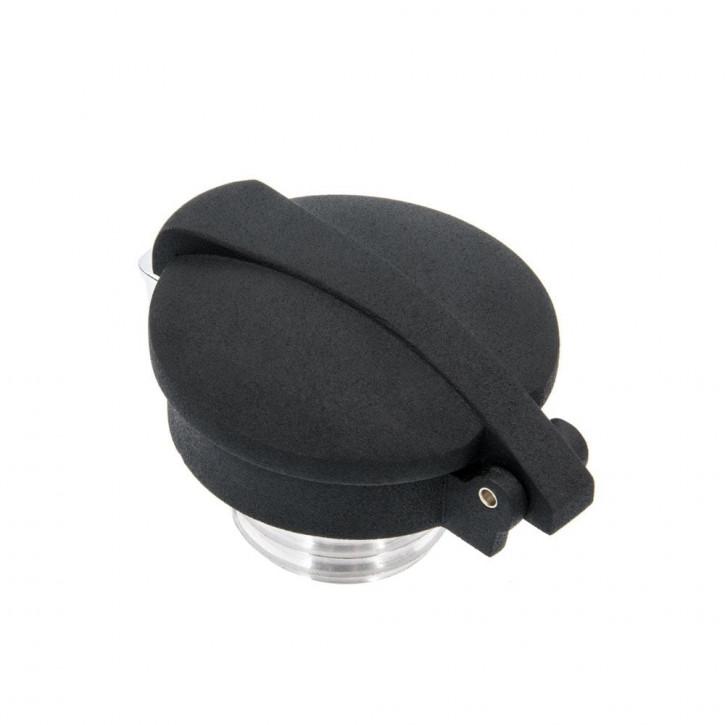 Tankdeckel Monza Style schwarz mit Adapter für HD und Triumph