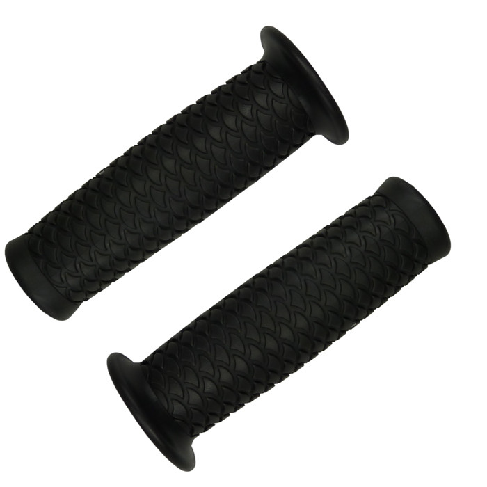 Black Motorcycle Grips with fish scale pattern for 22 mm handlebar