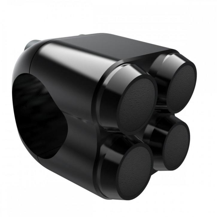 Schwarzer Aluminium Lenkertaster Quad für 22 mm Lenker