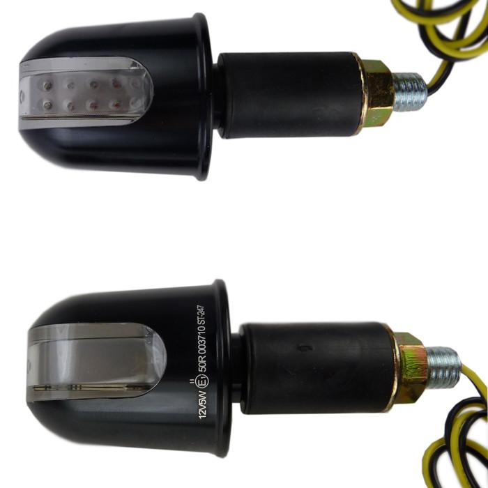 Schwarze Motorrad LED Lenkerendenblinker Rondo